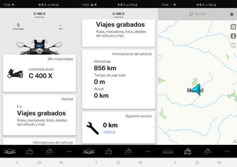 Aplicación de BMW Motorrad Connected