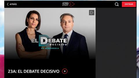 """Cómo ver """"El debate"""" de Antena 3 online"""