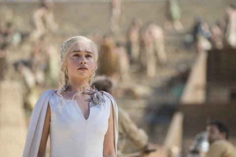 Daenerys Targaryen en una escena de Juego de Tronos.