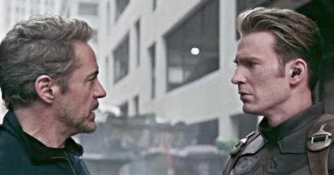 Iron Man y Capitán América - Endgame