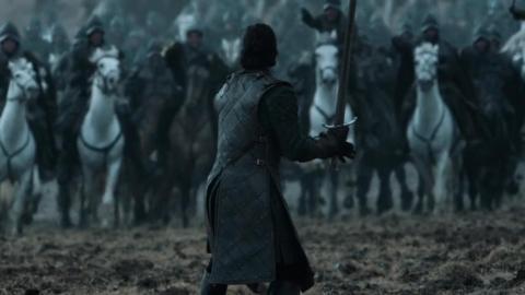 Juego de Tronos Jon Nieve Batalla de los bastardos