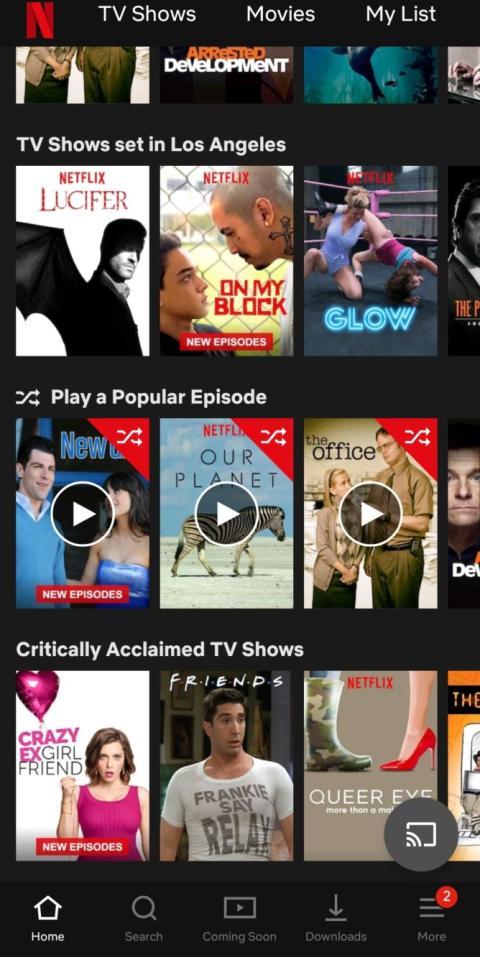 Netflix episodios aleatorios