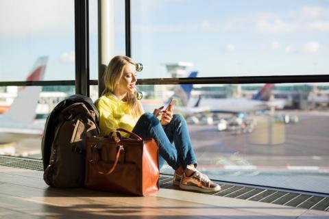 Vuelo avión viaje aeropuerto