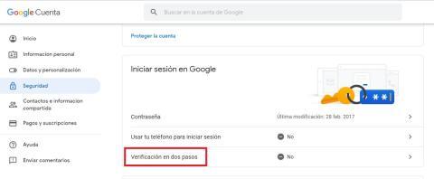 Llave de seguridad Android