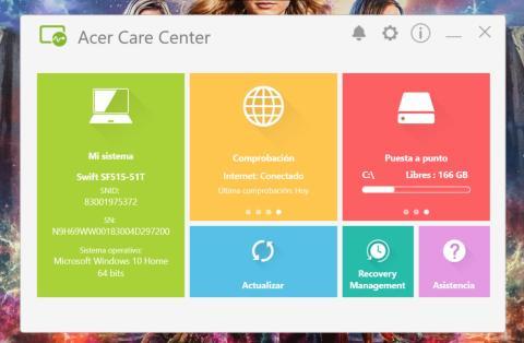 Acer Control center