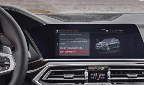 Actualización del sistema en BMW