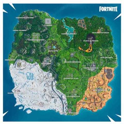 Cambios en el mapa de Fortnite Temporada 9