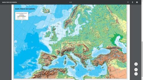 Mapa Mudo Fisico Europa Para Imprimir A4.Diario Tecnologia Donde Descargar Mapas De Europa En Color