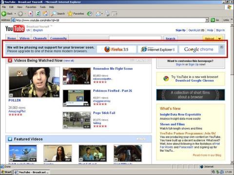 YouTube en 2009