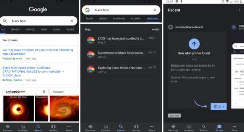 Google Search tema oscuro beta