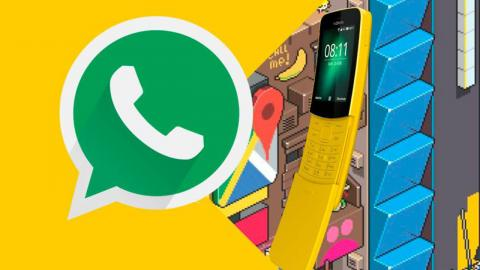 Nokia 8110 y WhatsApp