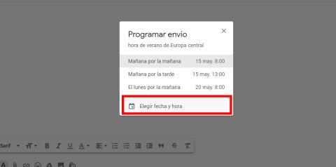 Programar correo Gmail