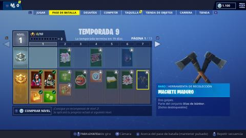 recompensas fortnite temp 9 1