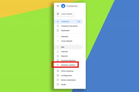 Recuperar contacto borrado gmail