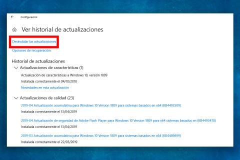 Versión anterior de Windows