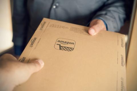 Amazon paquete repartidor