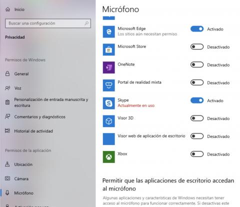 Micrófono Windows 10