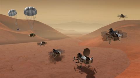 La NASA enviará un dron a Titán, la mayor luna de Saturno, en 2026