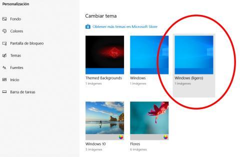 Nuevo modo claro Windows 10