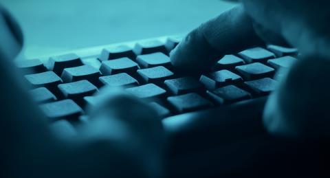 Teclado hacker deep web