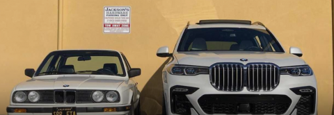 VÍDEO: Un BMW E30 con la parrilla del BMW X7, y viceversa