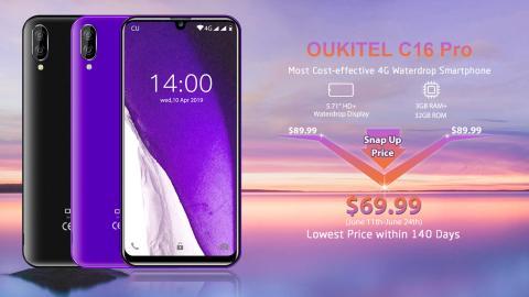 Ya puedes reservar el Oukitel C16 Pro por 69,99 dólares