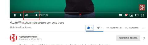 Problemas de sonido YouTube