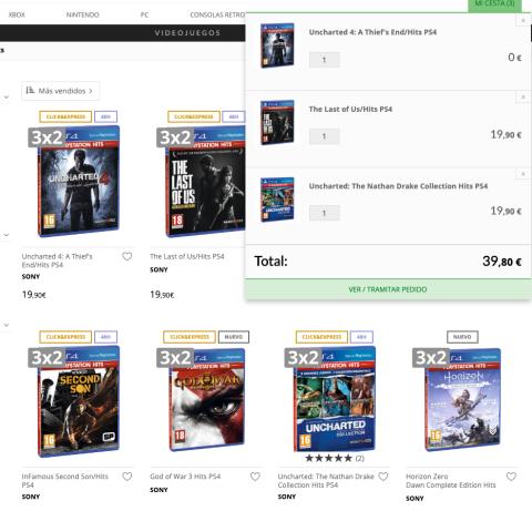 3x2 juegos PS4