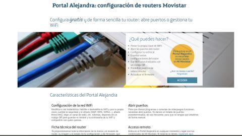 Configurar router Movistar con el Portal Alejandra