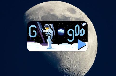 Doodle Viaje a la Luna