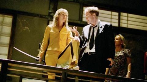 Kill Bill - Uma Thurman y Quentin Tarantino
