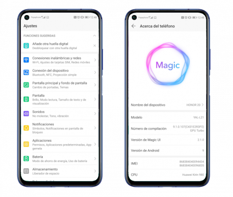 Magic UI en el Honor 20