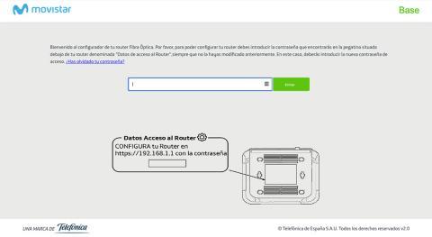 Acceder al router de Movistar