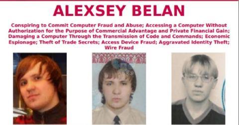 Alexsey Belan buscado por el FBI