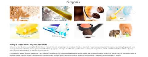 Amazon Pantry se trata del supermercado virtual de Amazon