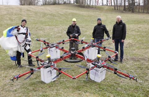 Salto desde dron