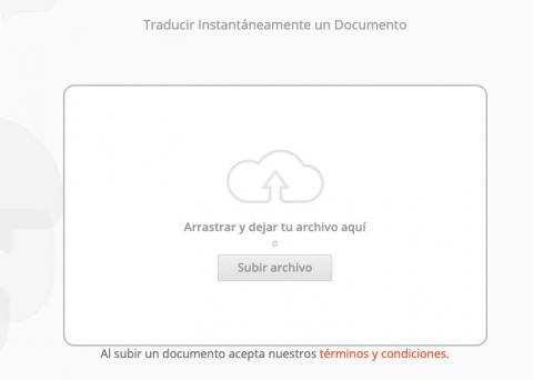 Traducir un PDF con DocTranslator