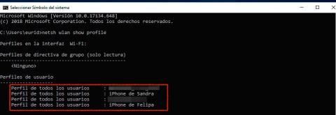 Ver claves del WiFi en Windows 10