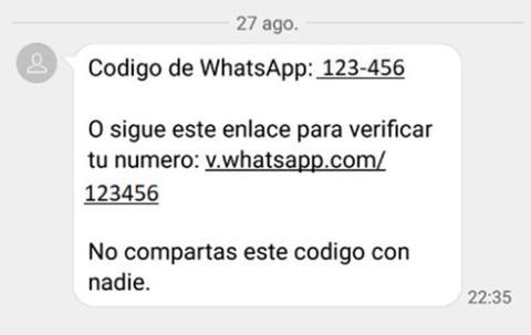 Nueva estafa con la que pueden robar tus datos — Whatsapp