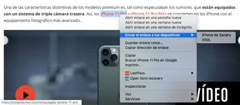 Compartir página en Chrome 77