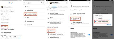 Configurar salida de voz en el asistente de Google