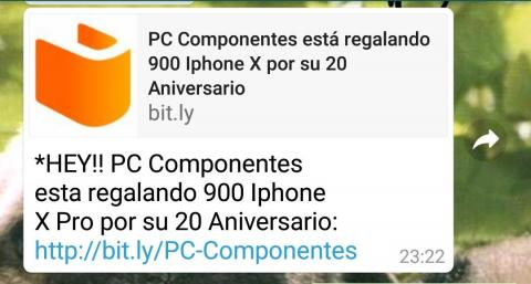 Bulo WhatsApp PcComponentes
