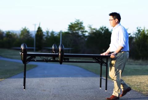 Dron transportista