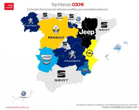 Mapa de marcas de coche