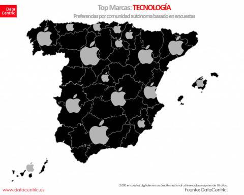 Mapa de marcas tecnológicas