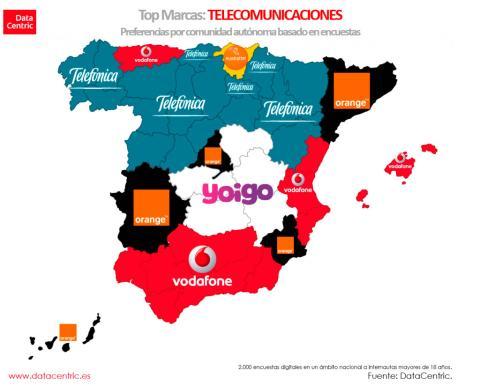 Mapa de marcas de telecomunicaciones