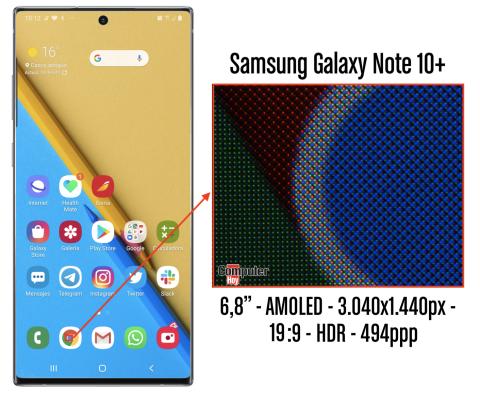 Note 10 plus pixeles