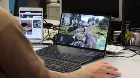 Parte más gaming del ZenBook Pro Duo
