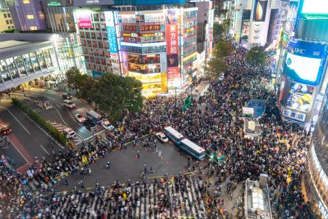 Paso de peatones de Shibuya en Tokio Japón