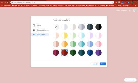 Personalización Chrome 77